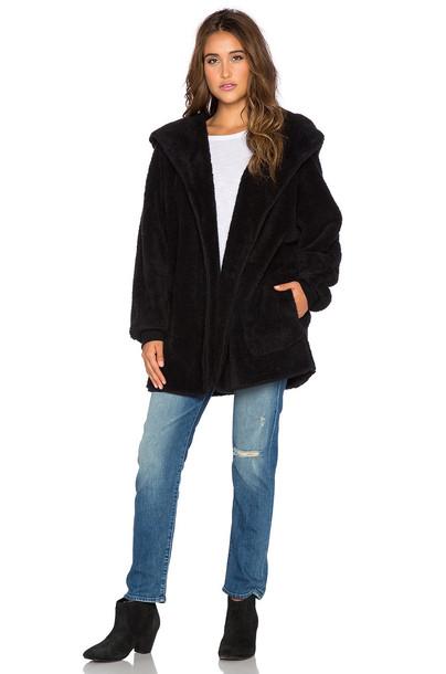 Whitney Eve jacket faux fur jacket fur jacket fur faux fur black