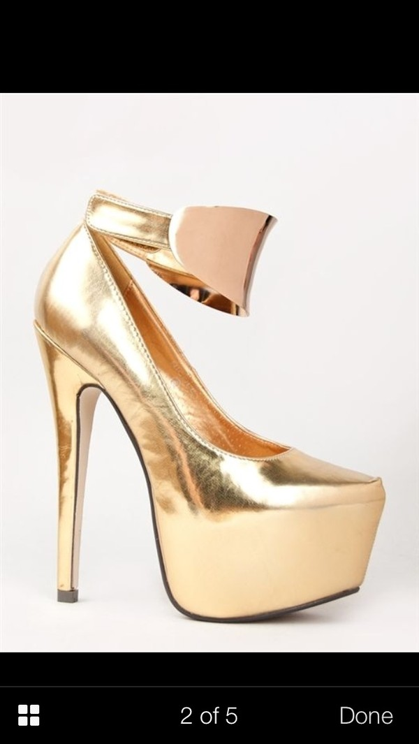 shoes gold shoes gold high heels gold heel gold cuffs gold cuff golden heels golden shoes gold