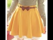skirt,cute,yellow,white lace