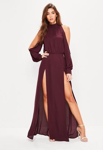 dress side split maxi dress