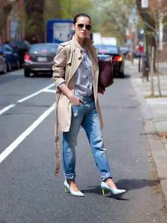 bittersweet colours coat shirt shoes jeans bag sunglasses