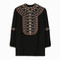Vilshenko women`s lucy silk embroidered top