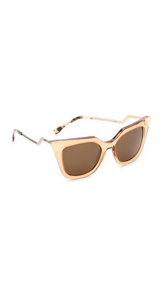 transparent sunglasses brown champagne