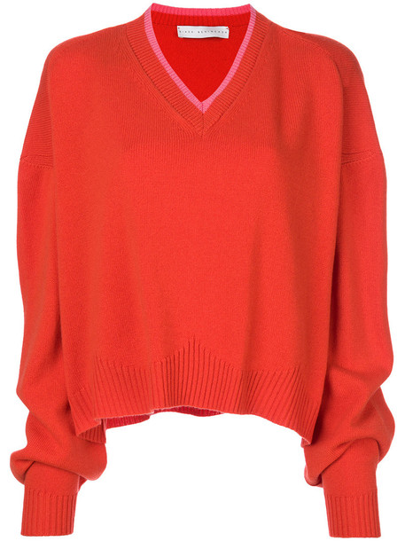 Giada Benincasa sweater women fit yellow orange