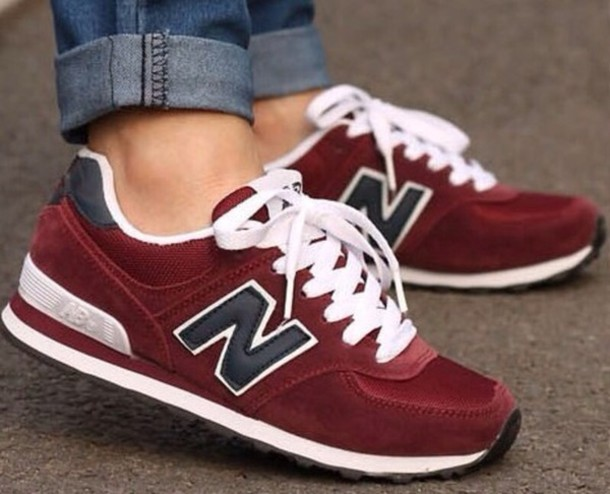 shoes new balance nb burgundy black bordeaux wheretoget. Black Bedroom Furniture Sets. Home Design Ideas