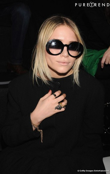 olsen sunglasses black and white celebrities old twin olsen blonde girly
