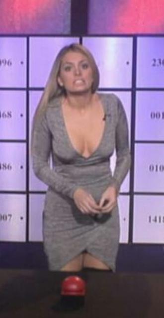 dress robe grise robe moulante decollete v portefeuille jupe portefeuille