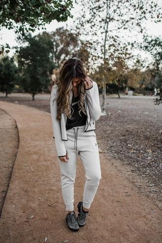 mint arrow blogger jacket tank top pants underwear shoes nike nike pants nike sweater sneakers sportswear