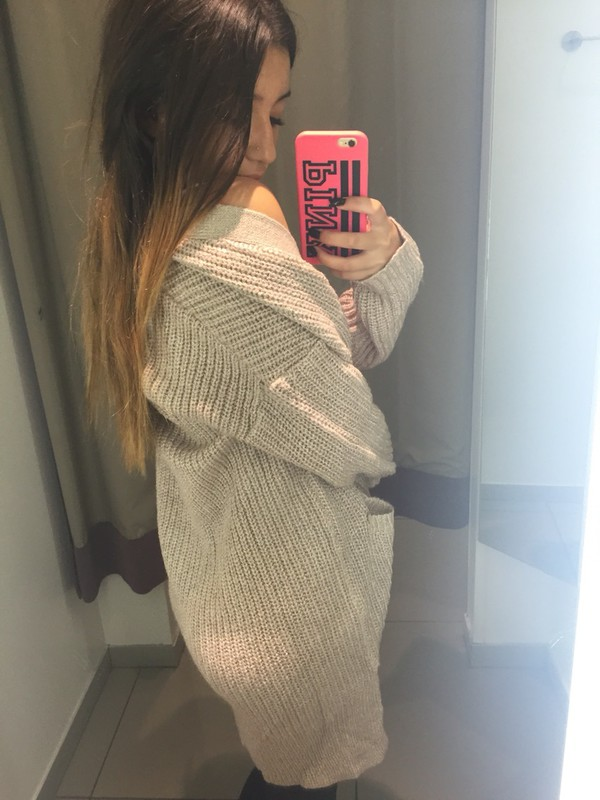 sweater cream color cream colored big sweaters cheap sweaters pink by  victorias secret oversized cardigan baggy - Cream Color - Shop For Cream Color On Wheretoget