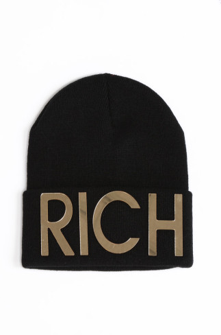 RICH BEANIE HAT-BLACK  /   shopshoeconnection.com