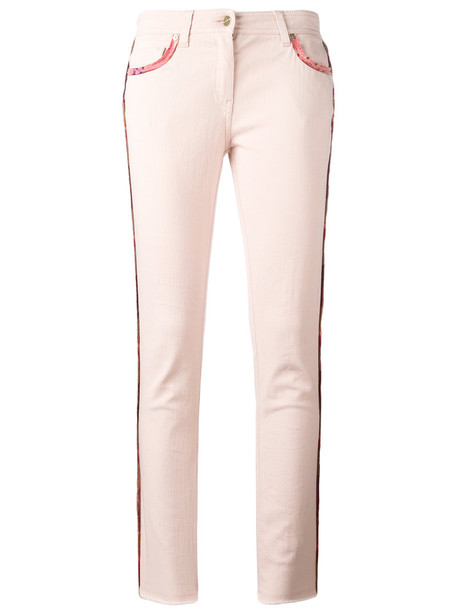 ETRO jeans cropped jeans cropped women spandex cotton purple pink