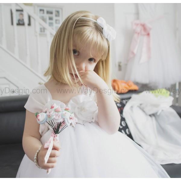 white flower girl dress white dress dress flower girl dresses