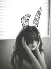 hair accessory,Accessory,lace,black,cute,accessories,bunny,black lace,fashion,style,dress ups,bunny ears,hair,hair accesssory