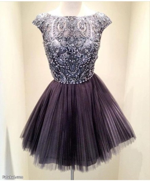 dress dark purple with high neck line