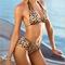 Cute sexy hollow out leopard bikini