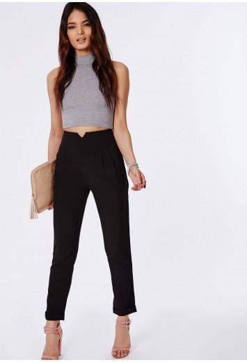 Marilyn cigarette trousers in black