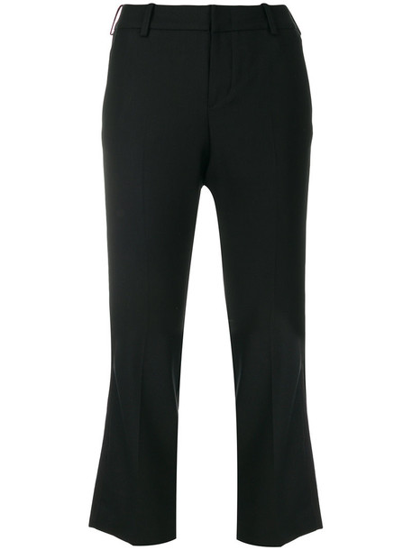 Zadig & Voltaire cropped women spandex black wool pants