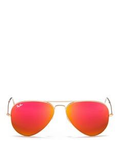 RAY-BAN - 'Aviator Large Metal' mirror sunglasses | Metallic Eyewear | Womenswear | Lane Crawford - Shop Designer Brands Online
