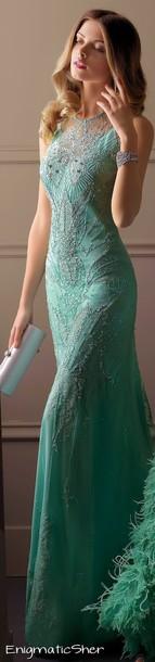 dress beaded long green dress beaded dress beading prom dress long prom dress
