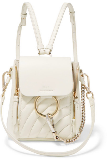 mini quilted backpack leather backpack leather white bag