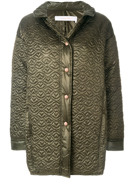See by Chloe jacket women quilted green
