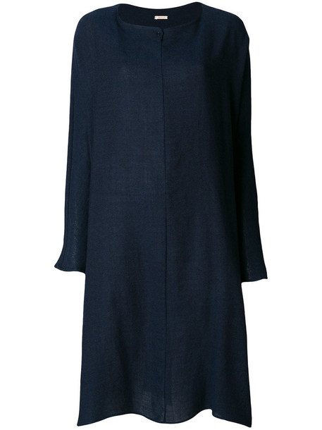 Apuntob dress sweater dress loose women fit cotton blue wool