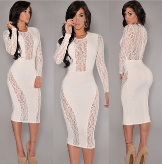 dress lace dress bandage dress black dress cream dress