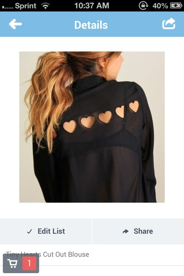 blouse heart cut out black heart cute black blouse & hearts black blouse
