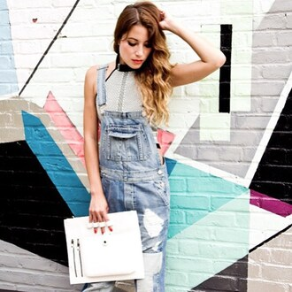 jumpsuit nastygal denim overalls ripped distressed denim perfect streetstyle collection jeans