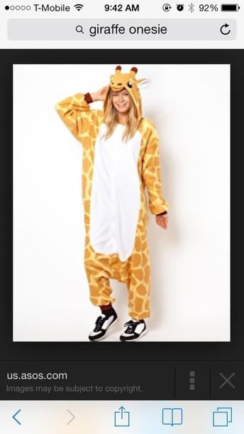 pajamas onesie giraffe tumblr tumblr outfit tumblr girl