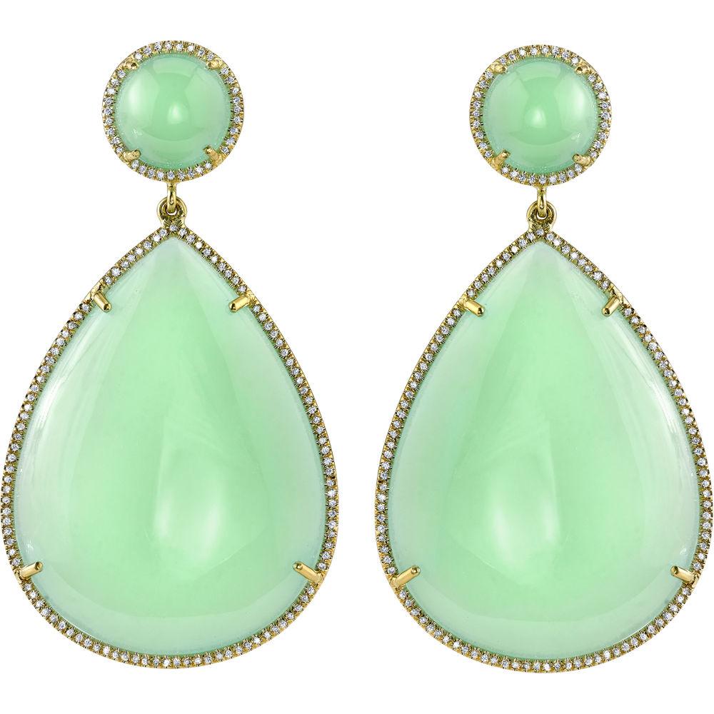 Irene neuwirth mint chrysoprase & diamond pear