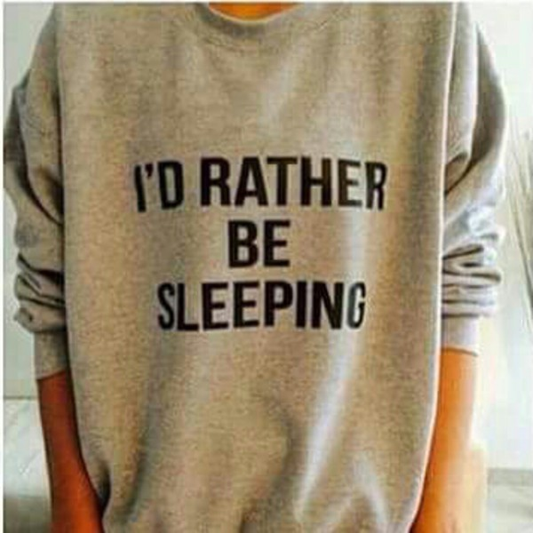 sweater grey sweater comfy i'd rather be sleeping