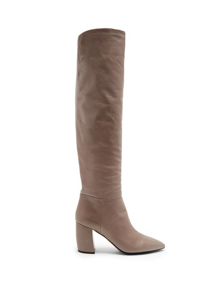 Prada knee-high boots high leather grey shoes