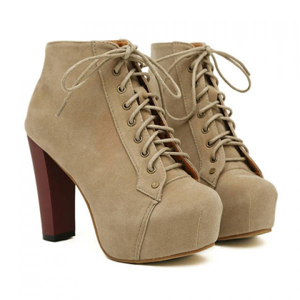 Party women's ankle boots with joker solid color and increased internal design