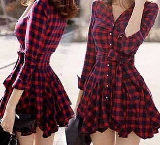 dress plaid flannel
