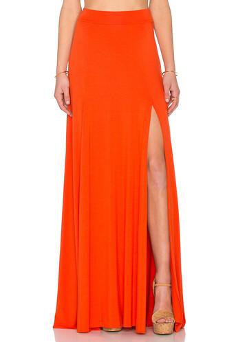 skirt maxi skirt maxi orange