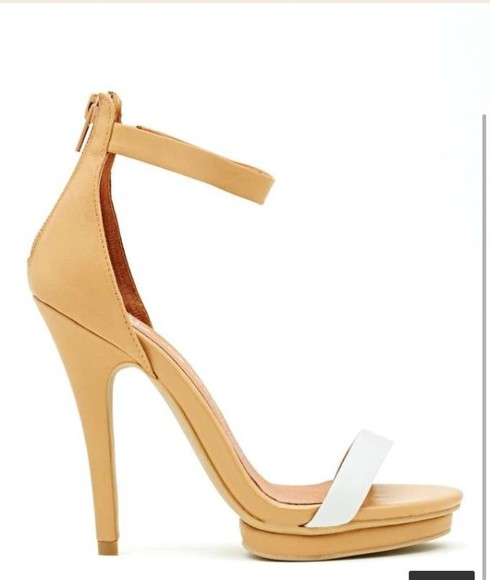 shoes nude sandals high heels platform shoes ankle strap jeffrey campbell