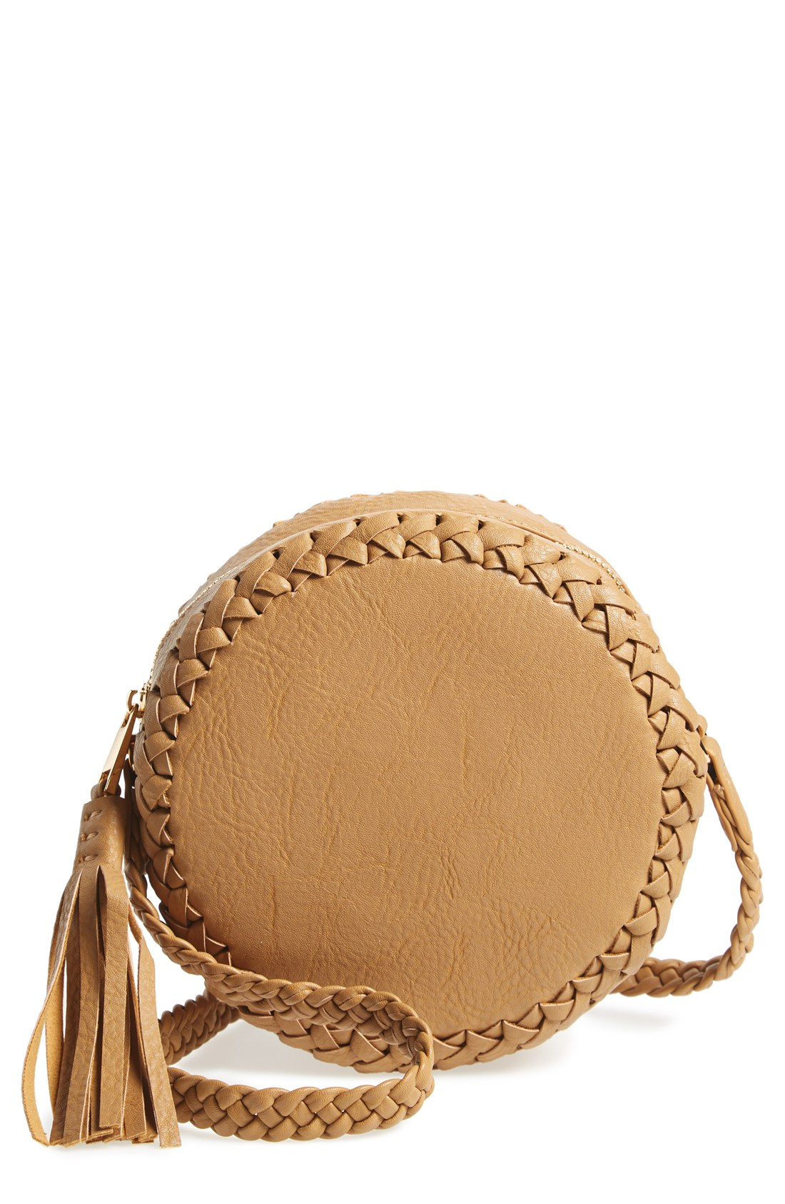 Big Buddha Faux Leather Round Crossbody Bag
