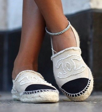 shoes chanel espadrilles chanel espadrilles designer fake shoes real shoes summer