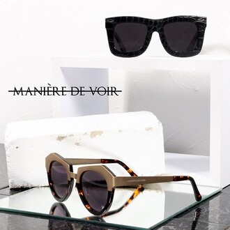 sunglasses st tropez gold geometric crocodile black sunglasses