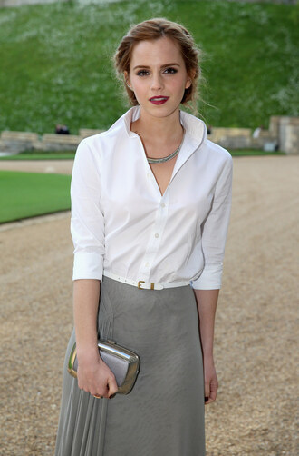 blouse emma watson make-up