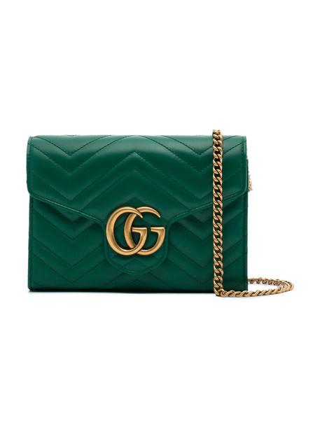 gucci women bag shoulder bag leather green