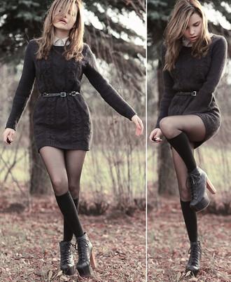 brown dress dress knitted dress winter dress long sleeve dress