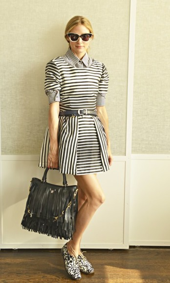 olivia palermo shoes shirt dress