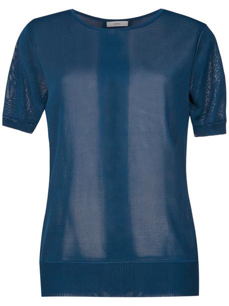EGREY blouse women blue top