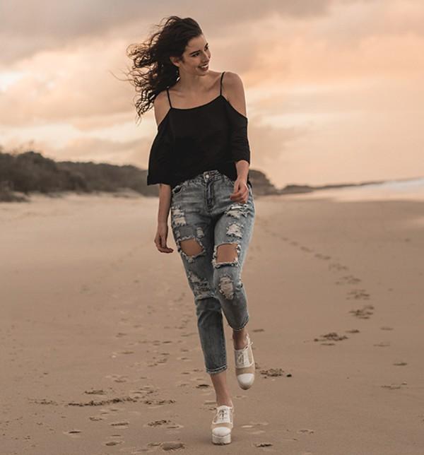 top black top jeans beachwear streetstyle stylemoi swag summer outfits