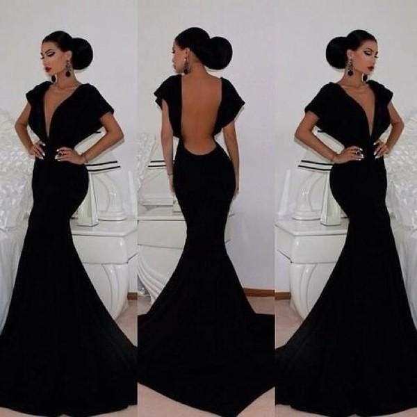 dress black dress backless prom dress sexy dress elegant dress