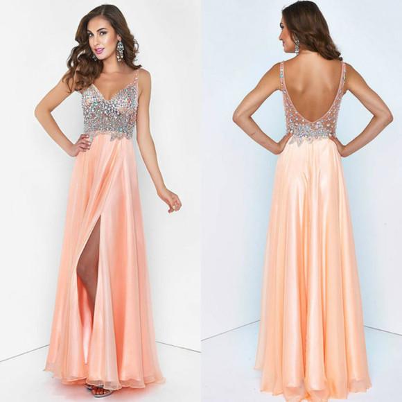 dress prom dress sequin dress pink