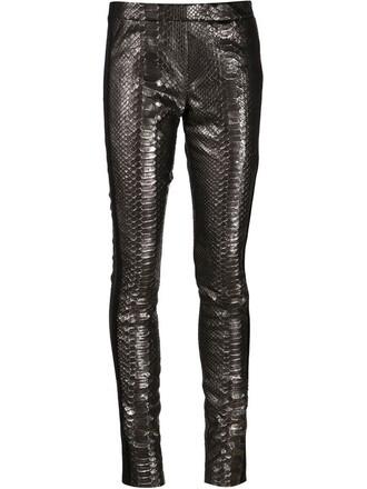 leggings women spandex leather black wool pants