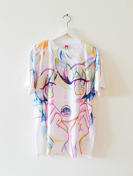 spring top t-shirt manga drawing girl